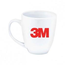 White 13 oz. Shiny Bistro White Coffee Mug