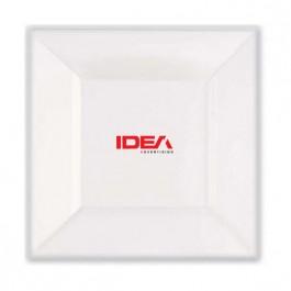 """White 6.5"""" Square Plastic Plate"""
