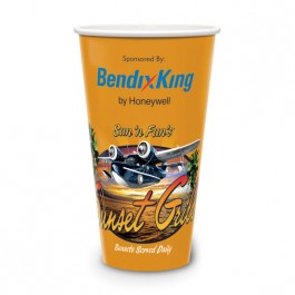 White 32 oz Cold Beverage Paper Cup - Full Color