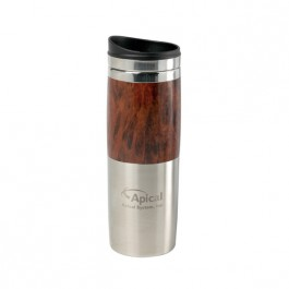 Wood / Silver 13 oz Engraved Contrast Wood Tumbler