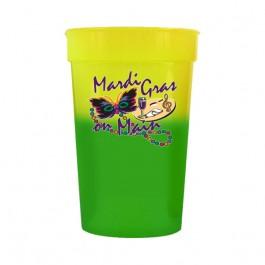 Yellow / Green 17 oz Color Changing Stadium Cup (Full Color)