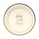 """10.25"""" Premium Plastic Plate w/ Trim"""