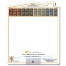 8.5 x 10.125 Laminated House Shape Memo Board