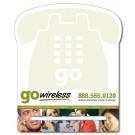 8.5 x 10.125 Laminated Phone Shape Memo Board