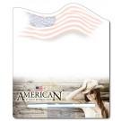 8.5 x 10.125 Laminated Flag Shape Memo Board