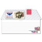 8 x 4.75 Laminated Mini Memo Board House Shape