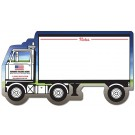 8.375 x 4.75 Laminated Mini Memo Board Semi-Truck Shape
