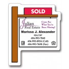 2.25 x 2.75 Real Estate Sold Sign Shape Magnet