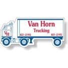 4.125 x 1.875 Semi Truck Shape Magnet