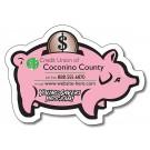 3.5 x 2.5 Piggy Bank Shape Magnet
