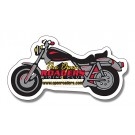 4.25 x 2.25 Motorcycle Shape Magnet