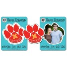 3.5 x 4.5 School Picture Frame Magnet - Paw Shape