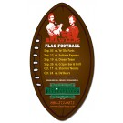 3 x 5.5 Football Shape Outdoor Magnet