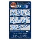 3.5 x 6 Round Corner Basketball Schedule Magnet