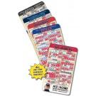 3.5 x 6 Round Corner Baseball Schedule Magnet