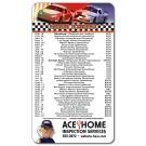 3.5 x 6 Round Corner NASCAR Schedule Magnet