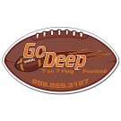 7 x 4 Football Shape Outdoor Magnet