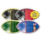 7 x 4 Football Shape Sport Schedule Magnet