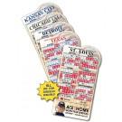 3.875 x 7.25 Baseball Shape Sport Schedule Magnet