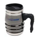 12oz. Black Chrome Tri-Roll Desk Mug