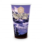 32 oz Reusable White Plastic Cup - Full Color