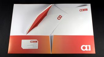 Presentation folders.
