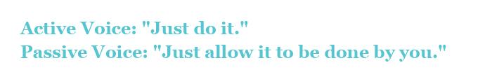 Active Voice vs Passive Voice Slogan