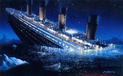 Titanic goes down, despite it's 'unsinkable' marketing campaign