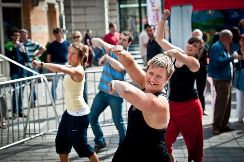 Dancing Flash Mob