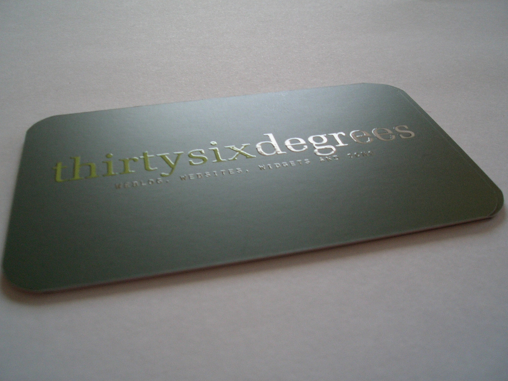 Spot UV Coating Business Card