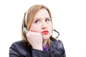 Discouraged Customer Service Representative