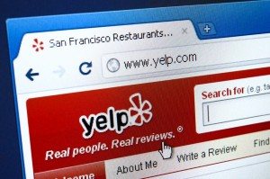 Yelp customer reviews