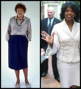 The distinct business tone of Oprah Winfrey vs. Julia Child