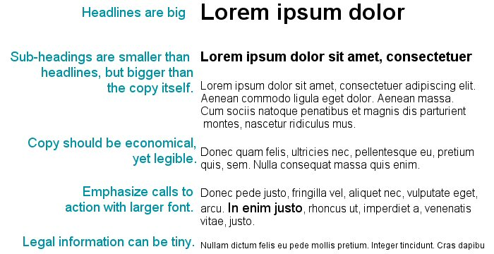 Font Size Examples
