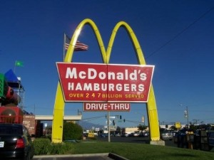 McDonald's Sign: Over 247 Billion Served
