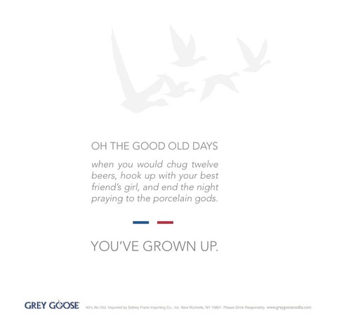 Grey Goose Ad with Commas