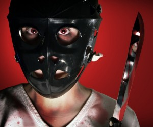 Serial Killer with Hockey Mask