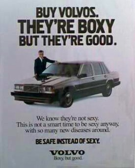 Example of Funny Advertising for Volvo from 'Crazy People'