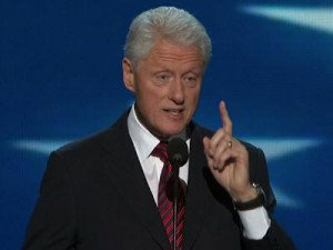 Clinton's 2012 DNC speech used hard facts and numbers to establish credibility.
