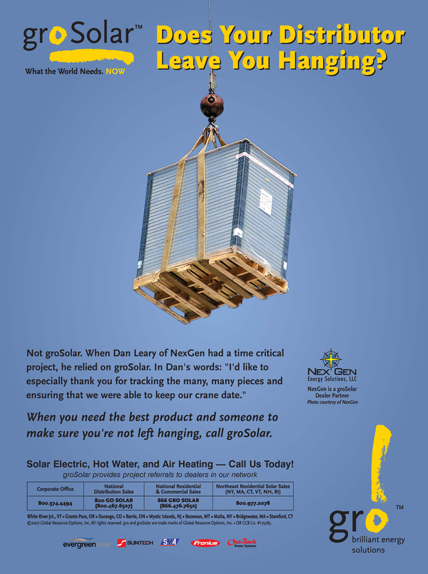 groSolar Ad with Cited Testimonial