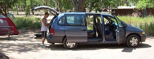 Minivan on Camping Trip