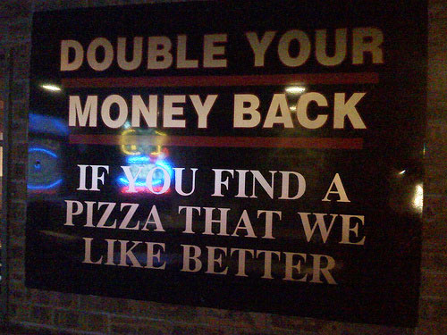 Funny 'Money Back Guarantee' Sign