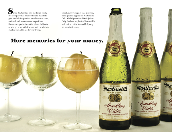 The nonalcoholic feature of sparkling cider can be turned into a benefit.