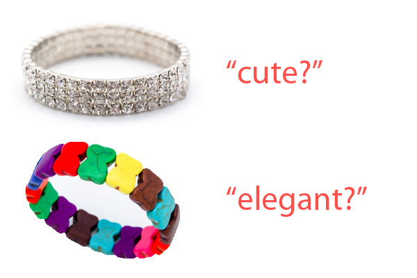 Mismatched Brand Word Choice (Cute vs. Elegant)