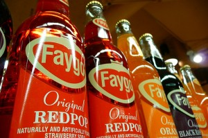 Bottles of Faygo Redpop with Colloquial Word Choice