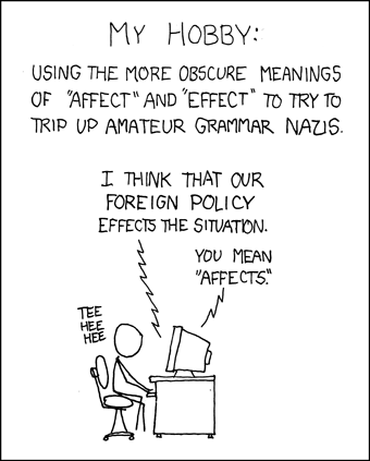 'Affect vs. Effect' xkcd comic