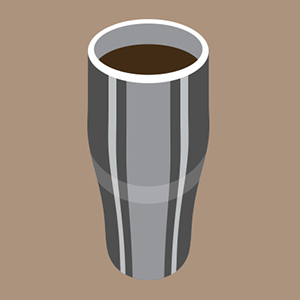 Double Walled Metal Coffee Cup