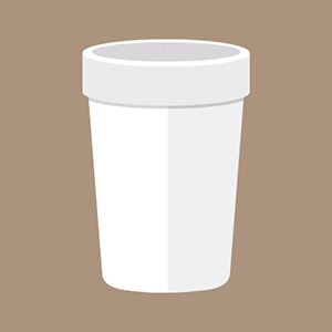 Styrofoam Foam Coffee Cup