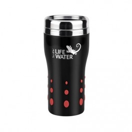 Black / Red 16 oz. Stainless Dot Matrix Tumbler