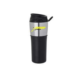 Black / Silver 16 oz. Slider Tumbler